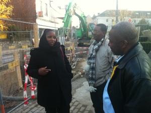 Visite d'infrastructures d'assainissement avec la délégation de l'ANGESEM et de la Commune 2 (novembre 2012)