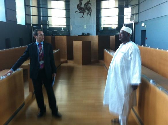 Visite d'une délégation de l'ANGESEM au Parlement Wallon